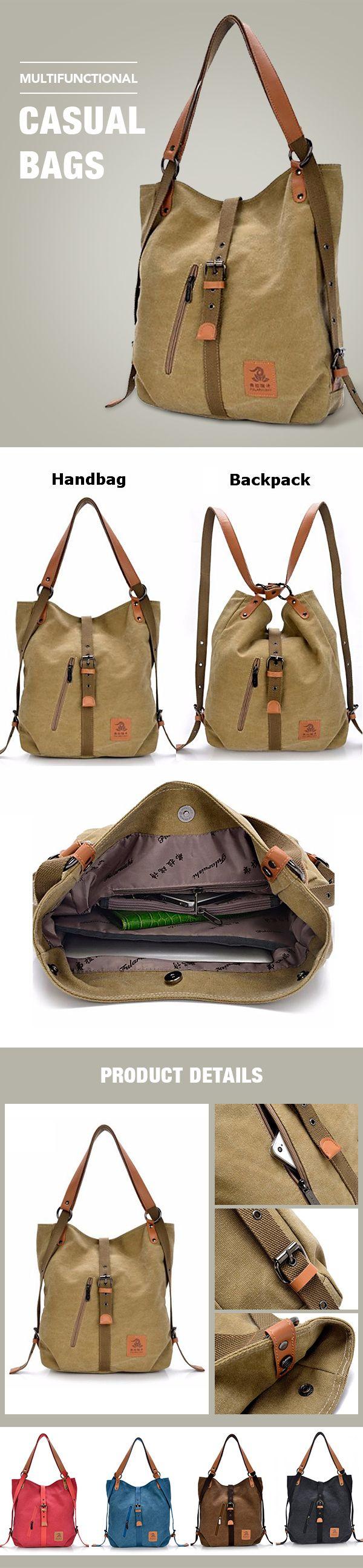8e825253c950 US$28.66 Women Canvas Casual Multifunctional Microfiber Leather ...