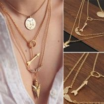Fashion Gold-tone Multi-layer Necklace