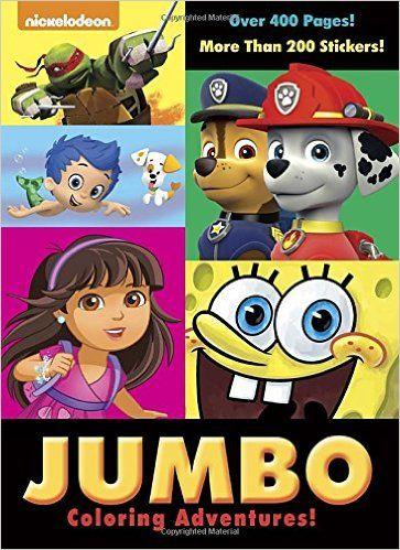 Jumbo Coloring Adventures Nickelodeon Super Jumbo Coloring Book Golden Books 9780553520873 Amazon Com Books Coloring Books Nickelodeon Adventure