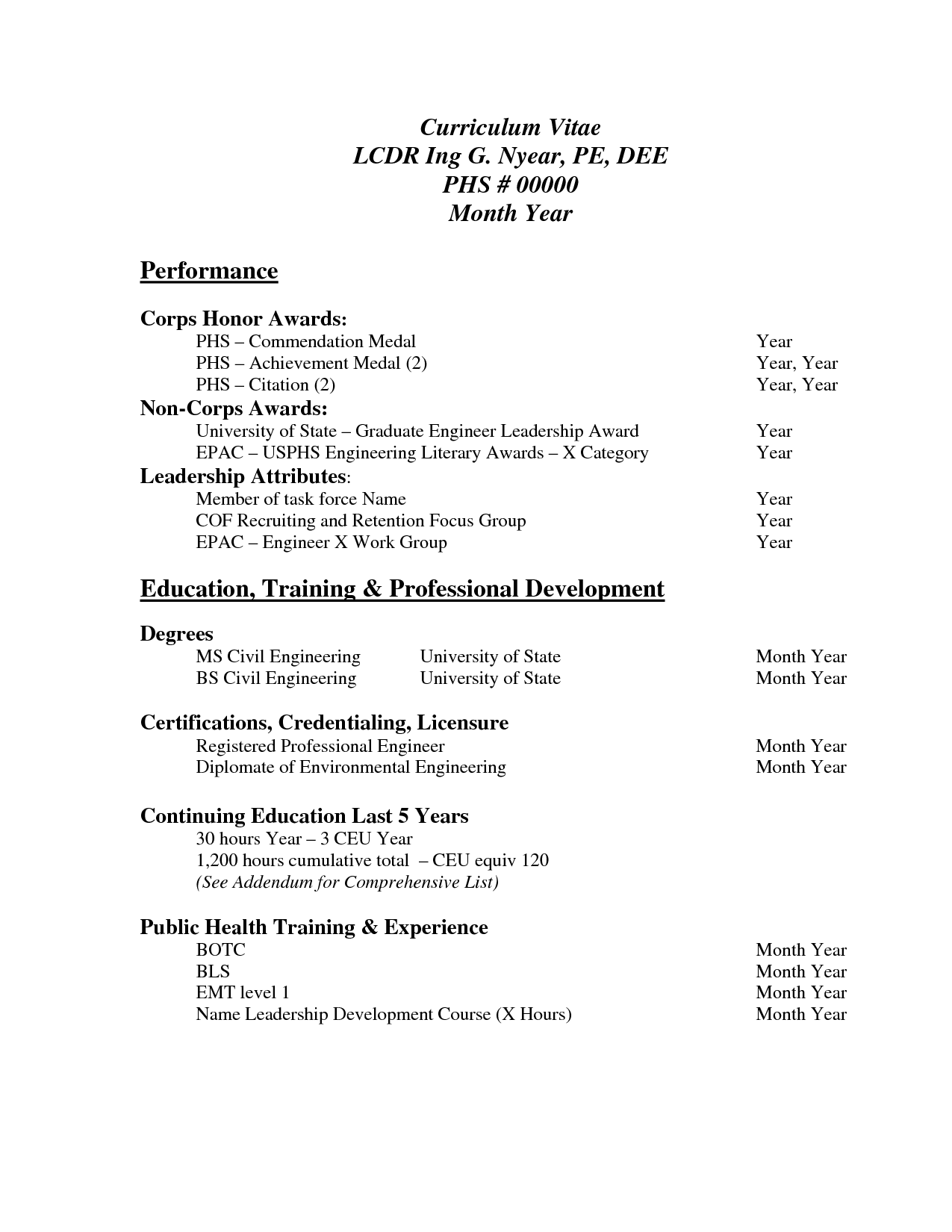 Basic Resume Template Pdf o basic