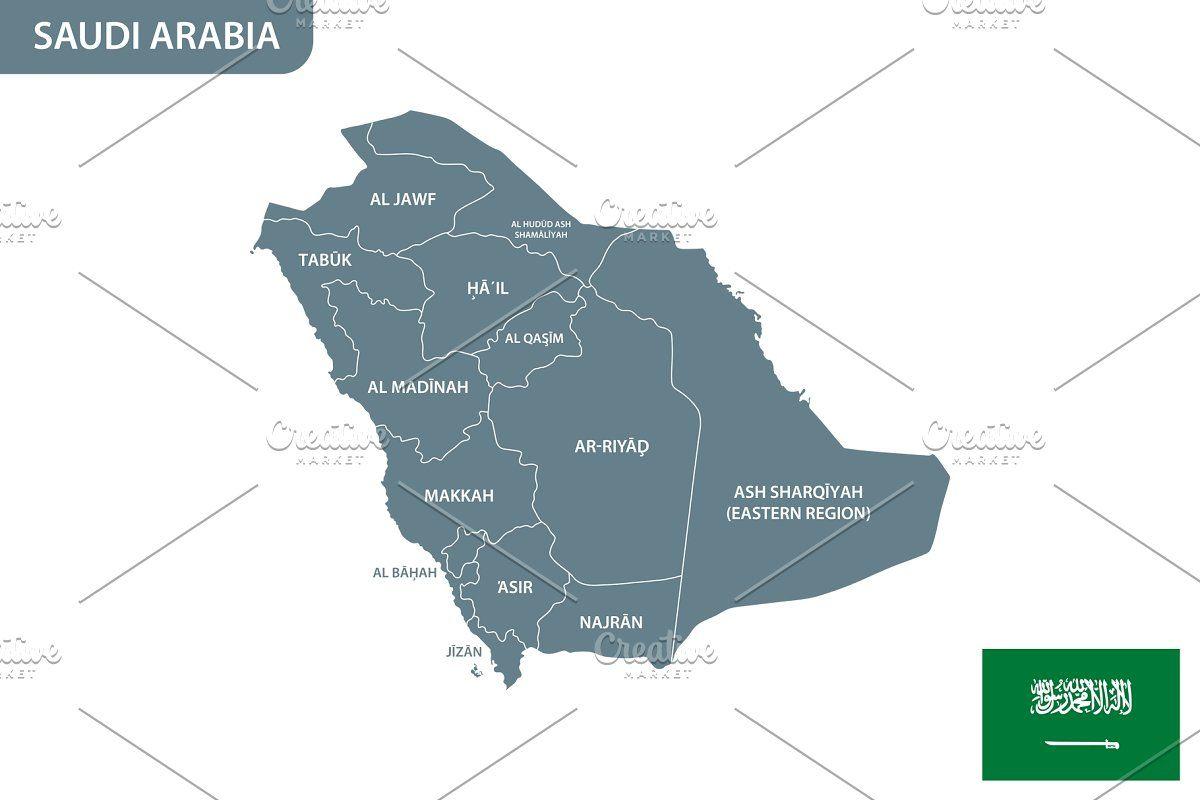 Detailed Map Of Saudi Arabia Detailed Map Map Map Vector