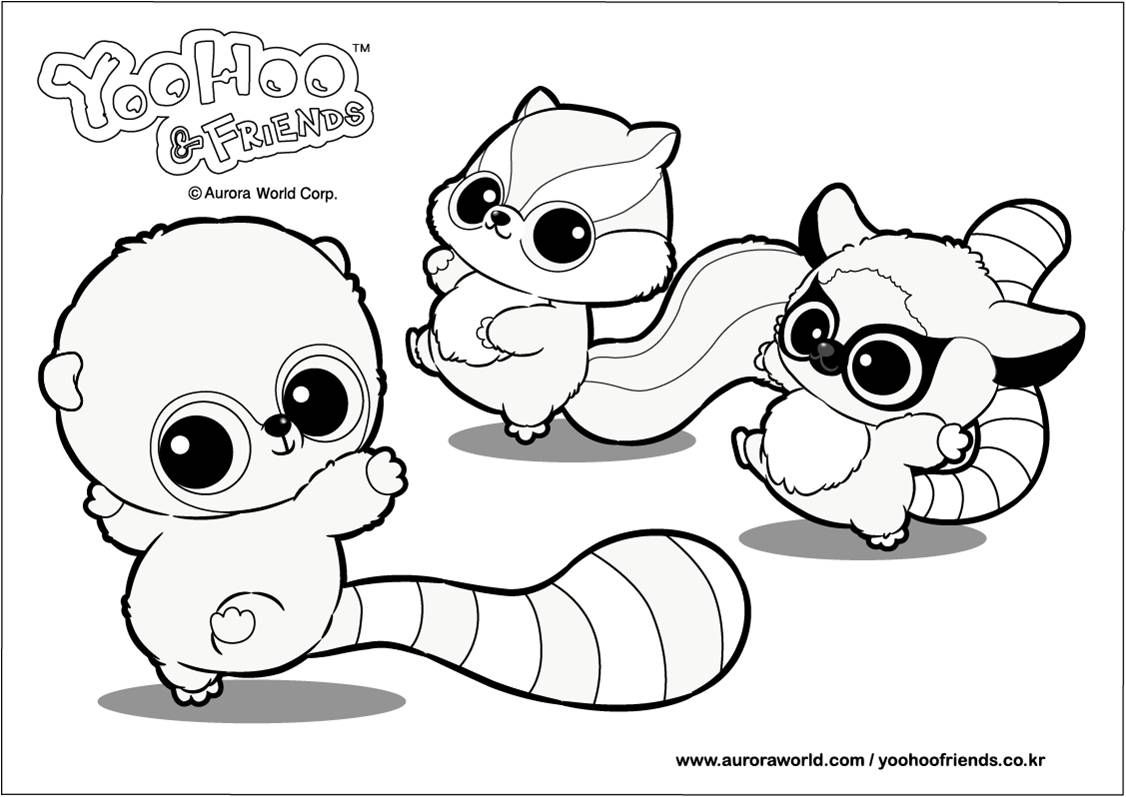 Kids coloring in pages yoohoo toys great for parties for Yoohoo and friends coloring pages