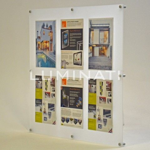 Clear Acrylic Wall Mounted Frame Supplied With Aluminium Wall
