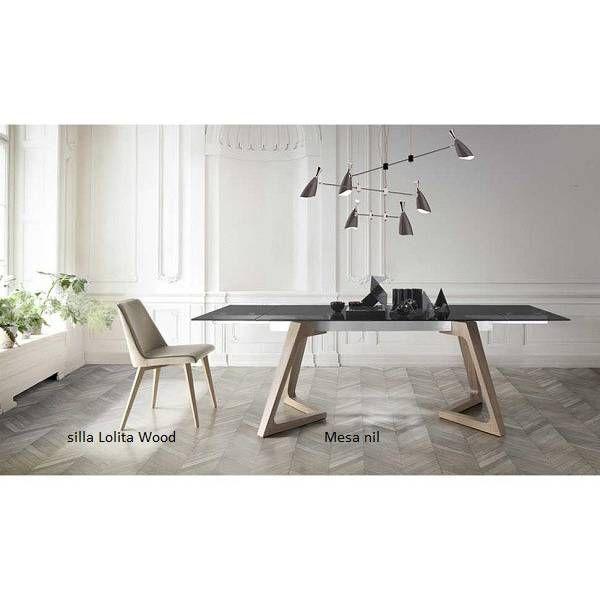 Mesa diseño comedor extensible Nil nacher patas en madera moderna ...