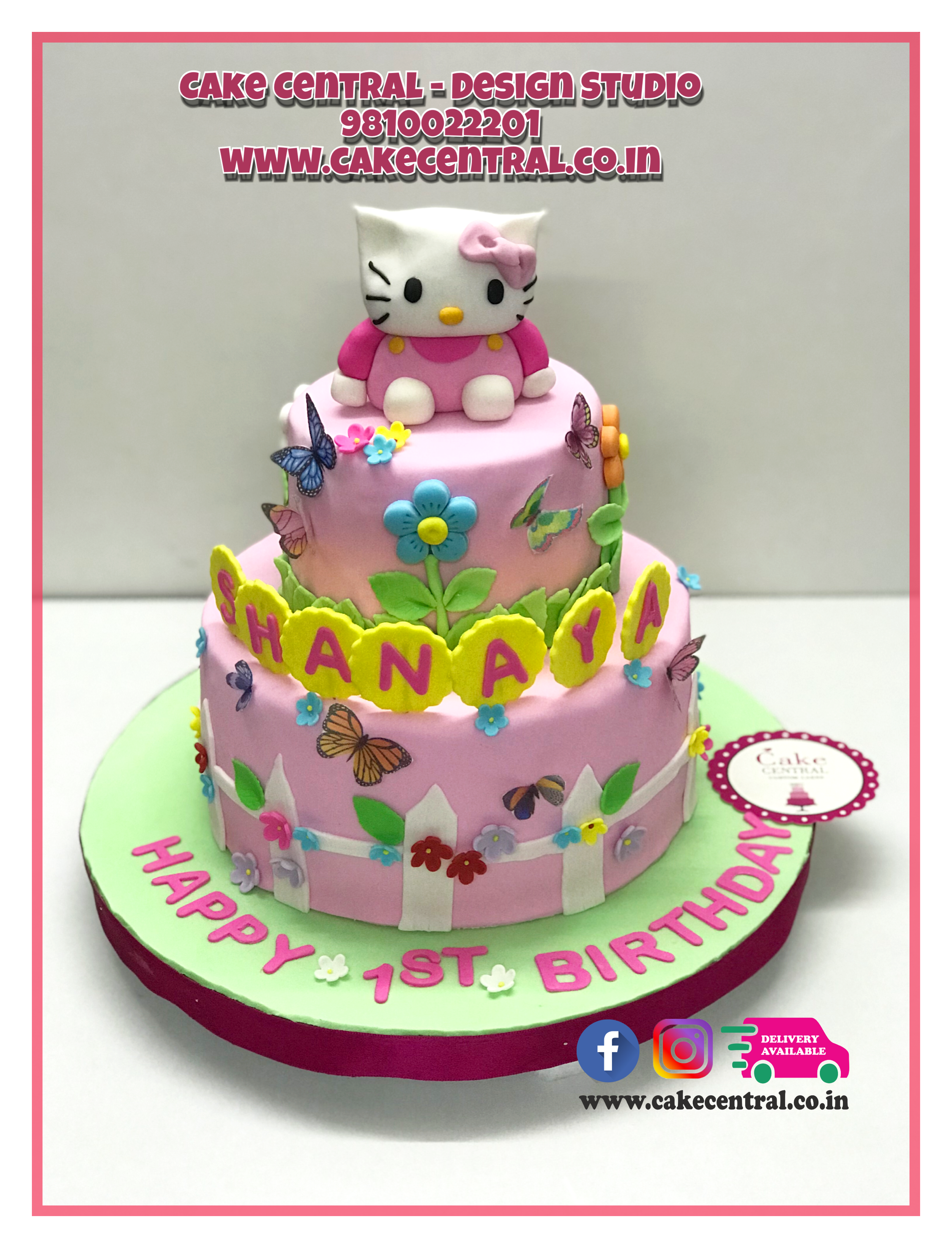 Hello Kitty Cake In Delhi Online By Central
