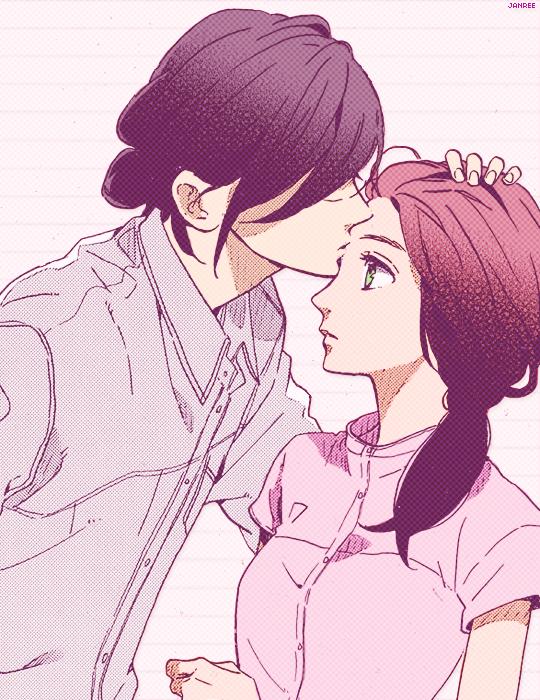 "janree: """"△☆◎✖~~~~~ !!!"" ⤷ Tsubaki-chou Lonely Planet ▹ Chapter 13 ▹ Kibikino Akatsuki & Ohno Fumi ⤷ Manga by Yamamori Mika """