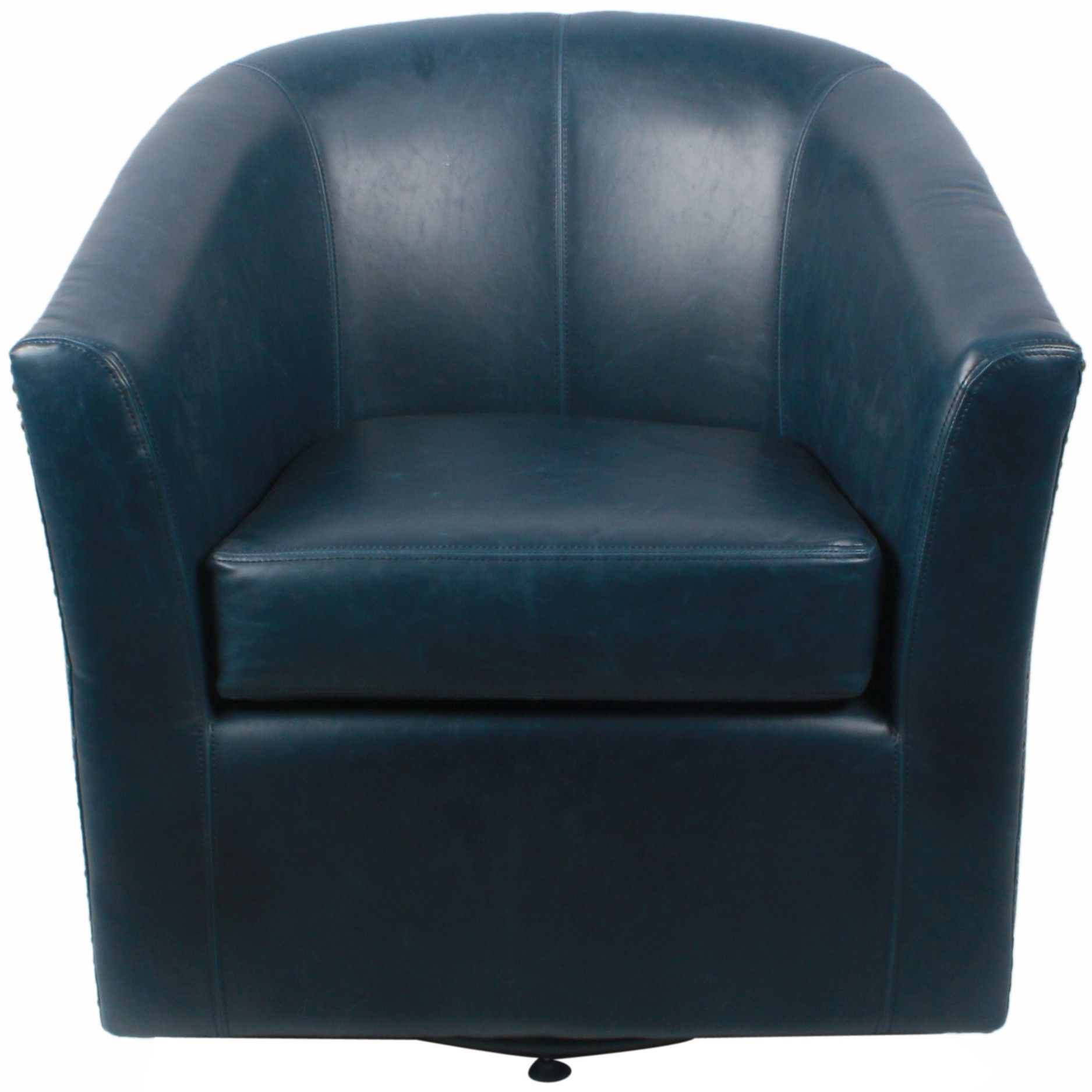 Ernest Bonded Leather Swivel Barrel Chair