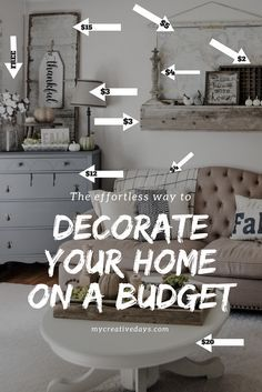 Learn How To Decorate A Beautiful Home On A Yard Sale Budget!