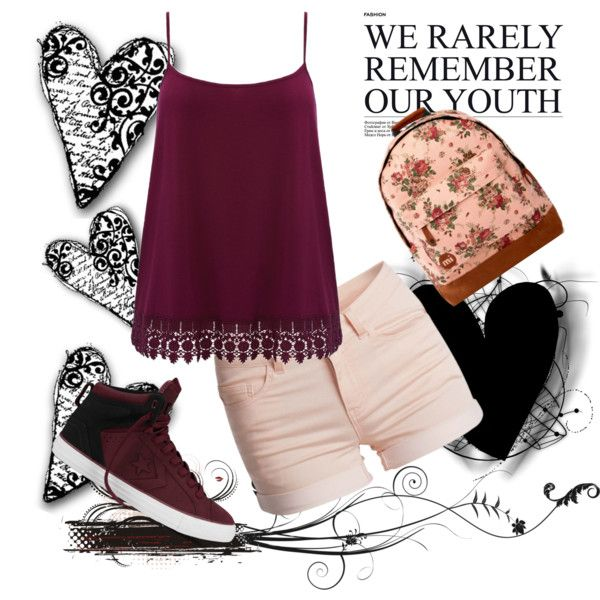 We-Rarely-Rem.-Our-Youth by fashion-queen-diva on Polyvore featuring M&Co, Pieces, Converse and Mi-Pac