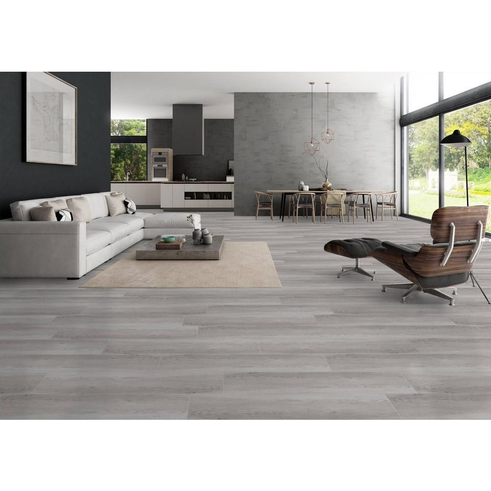 Sierra Gris Wood Plank Porcelain Tile Grey Wood Floors Living Room House Flooring Living Room Tiles #wooden #tiles #living #room