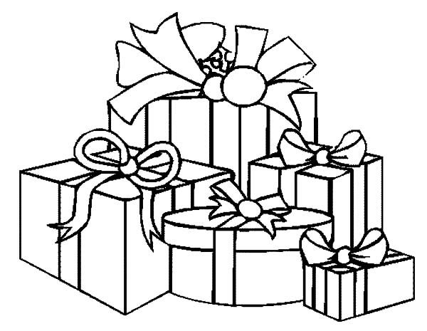 Christmas Presents How To Draw Christmas Presents Coloring