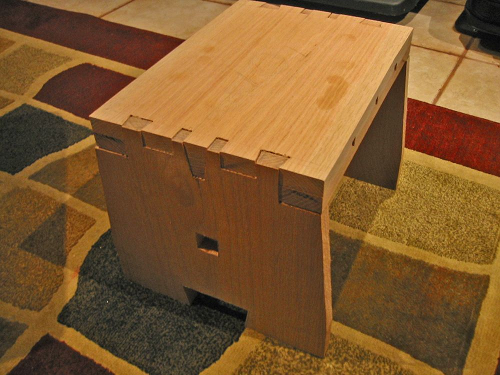 Astounding Custom Built Step Stool Twisted Dovetail Joinery See My Ibusinesslaw Wood Chair Design Ideas Ibusinesslaworg