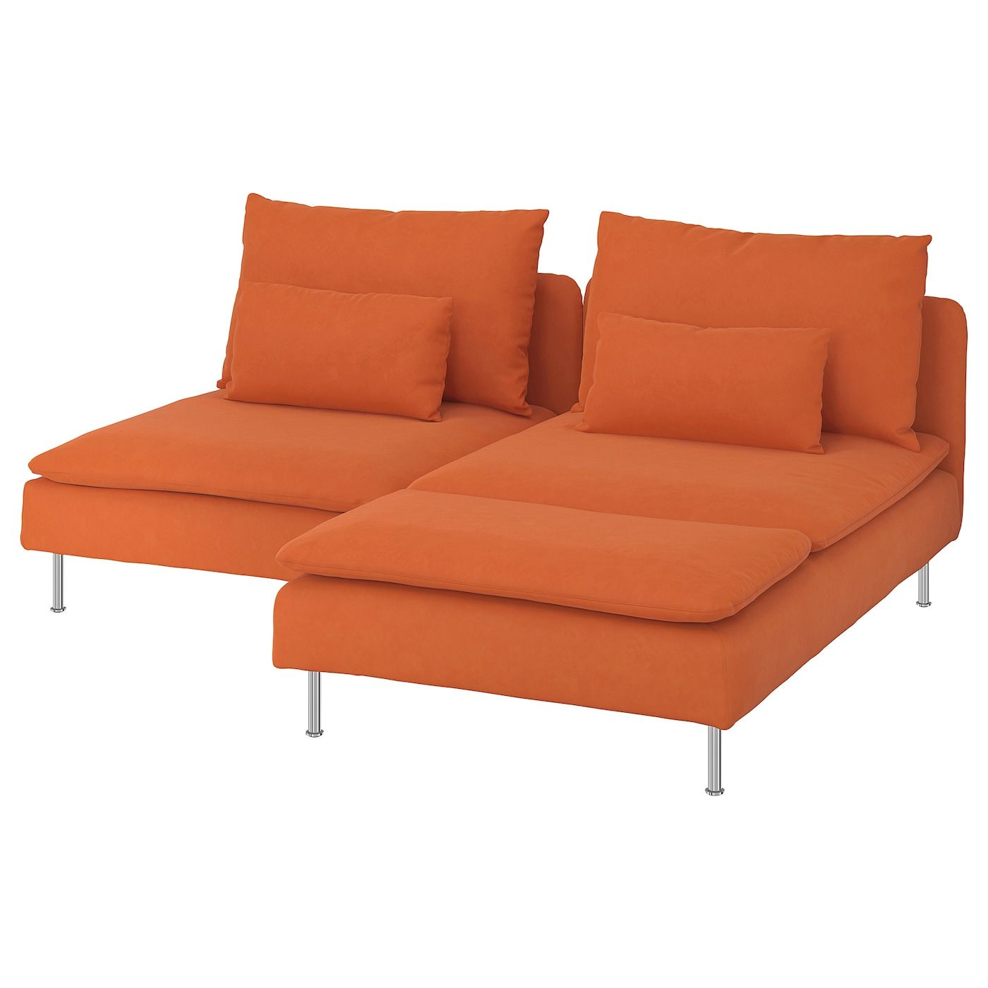 Soderhamn Sofa 2 Plazas Chaiselongue Samsta Naranja Ikea In 2020 Love Seat Fabric Sofa Ikea