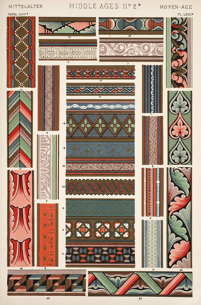 The Textile Blog The Medieval Style As Seen By The Audsleys Medieval Decor Art Decor Pattern Art