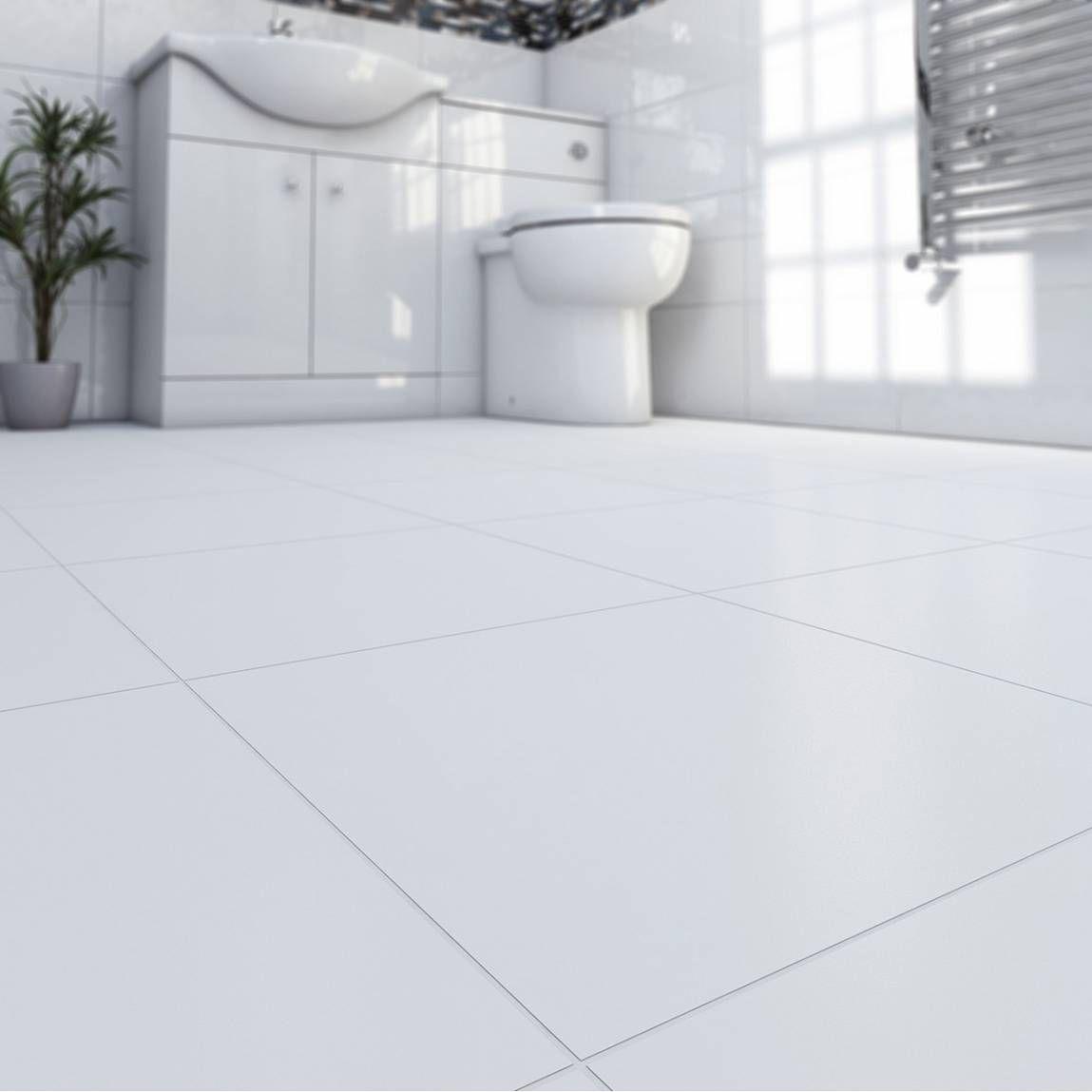 white tile floors - Google Search | Bathrooms | Pinterest | White ...