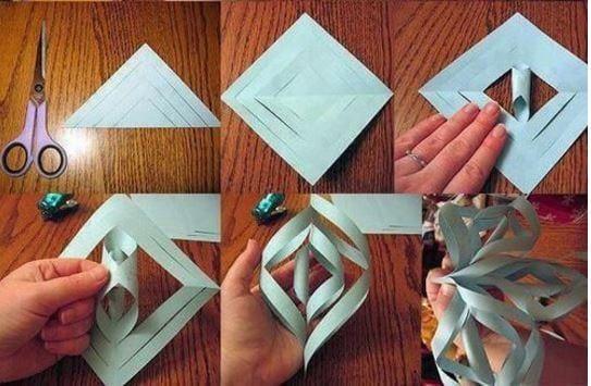 Fiocchi Di Neve Di Carta Facili : Come fare fiocchi di neve di carta facili il bambino tiene un