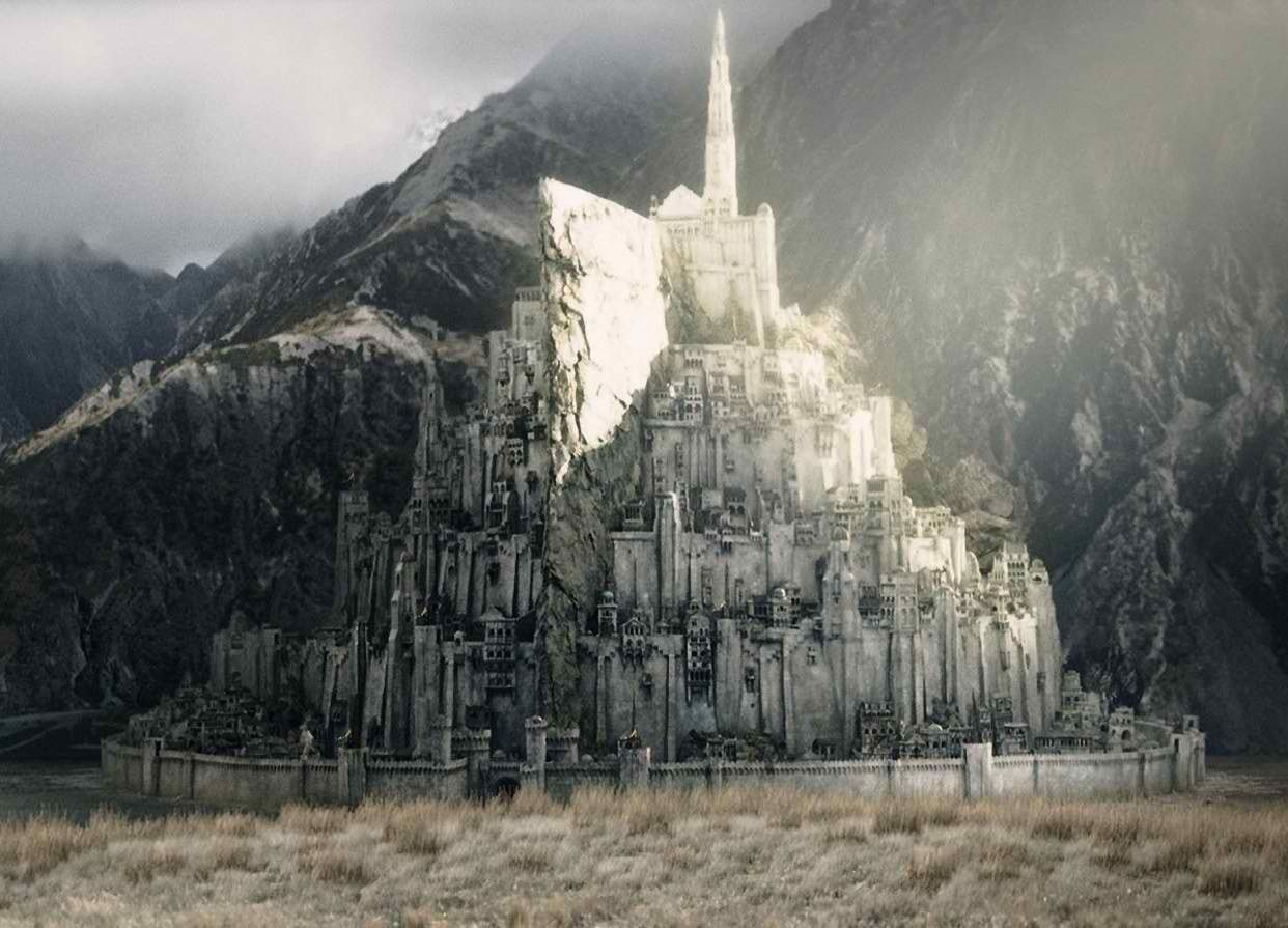 Minas Tirith The City Carved Out Of The Mountain El