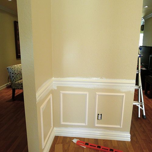 DIY Wainscoating! @Meredith Heard | Dining Room | Pinterest | Corner ...