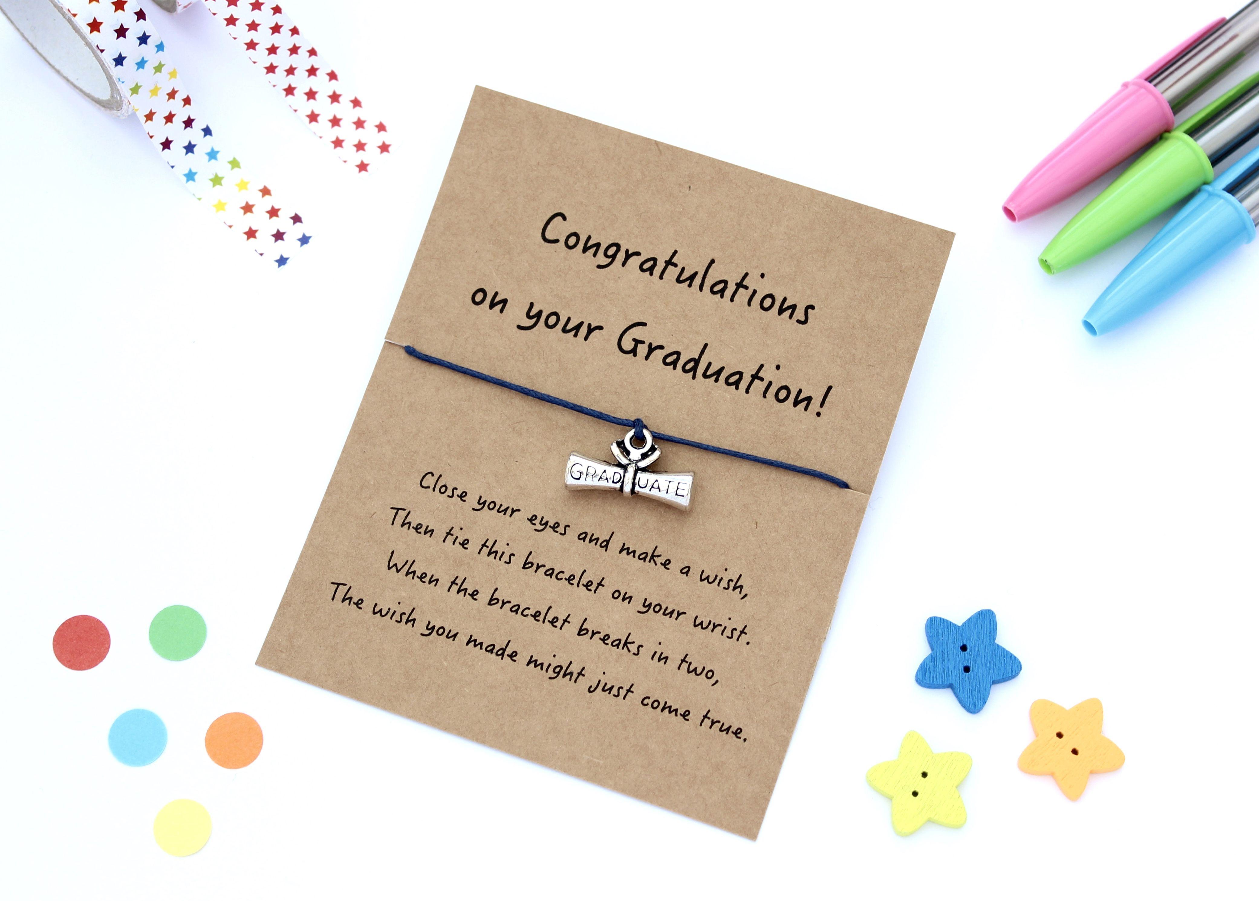 Graduation Gift Graduation Wish Bracelet Etsy Thank You Teacher Gifts Teacher Appreciation Gifts Teacher Gifts