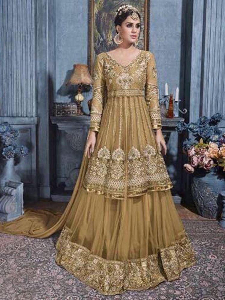 New Wedding Wear Gown Fablic Net Fancy Deginer Look Bollywood Style