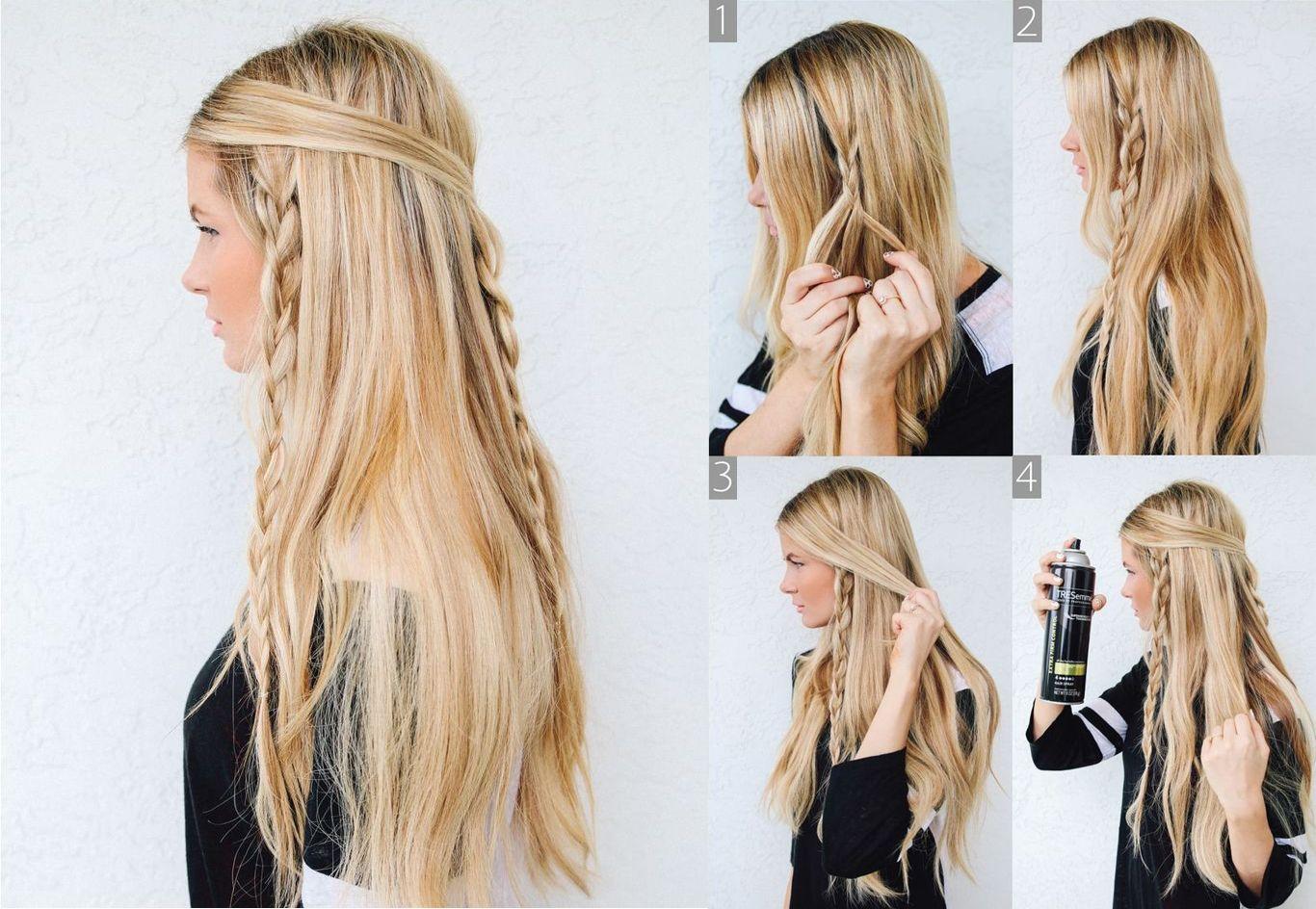 Hippie Braid Tutorial Hippie Braid Cliphair Hairstyle Frisuren Einfach Haar Styling Coole Frisuren