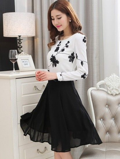 9ceda2258c1 BLACK & WHITE COLOUR DRESS - IWMS Women dress   outfits to wear in ...