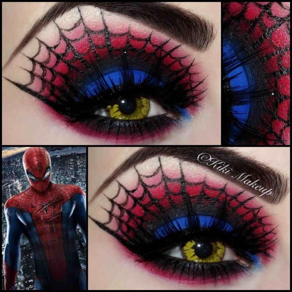 Spiderman makeup Halloween | I am a Nerd | Pinterest | Spiderman ...