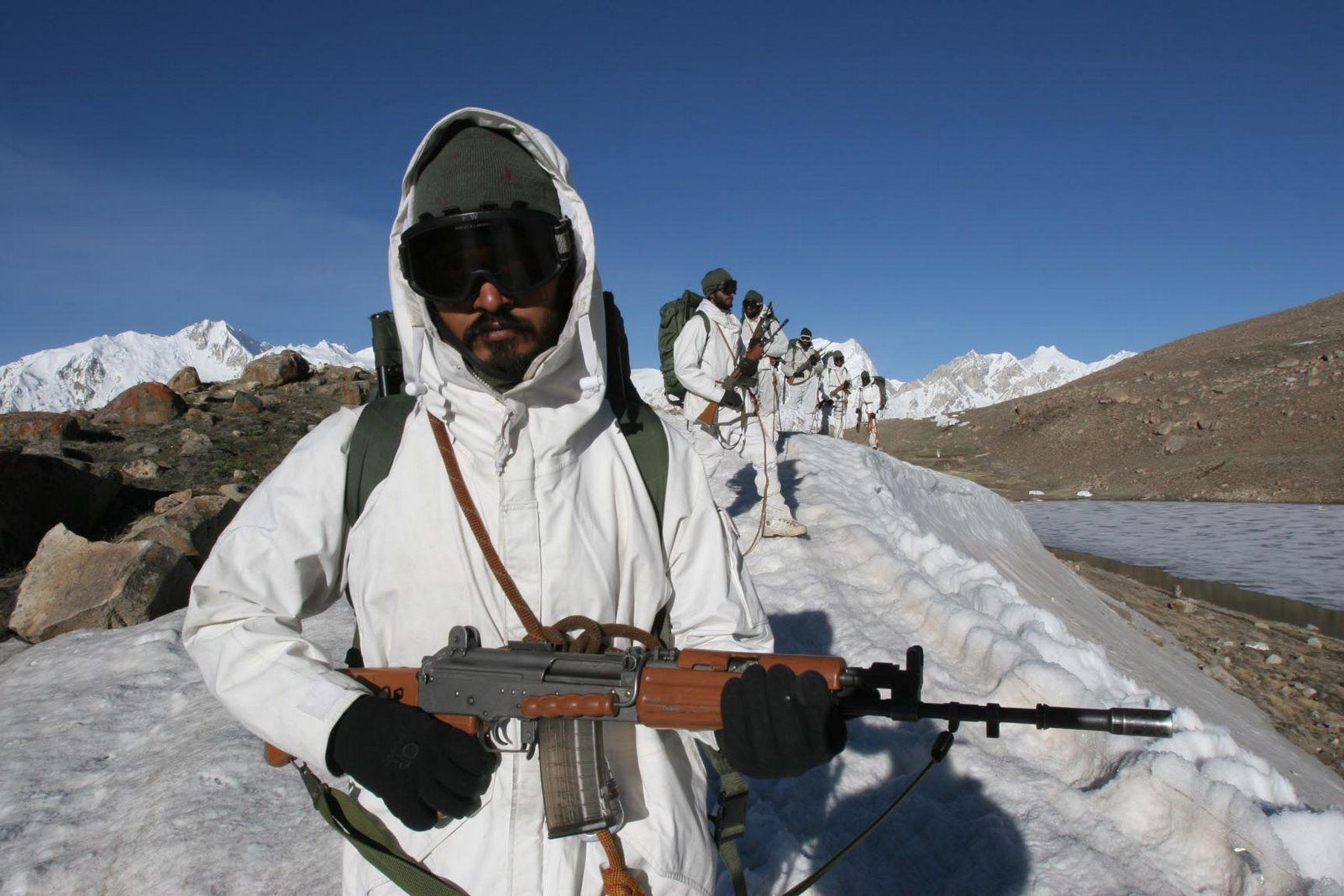 Indian soldiers on Siachen Glacier, frequently called the worlds ...