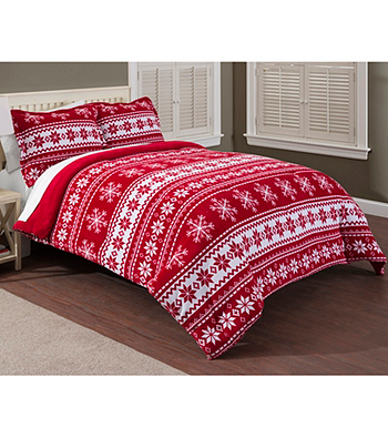 LivingQuarters Fair Isle Micro Cozy Comforter or Shams | Younkers ...