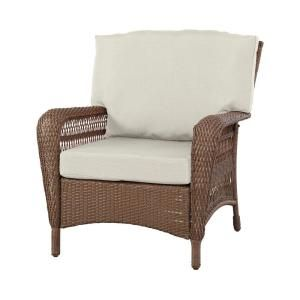 Wonderful Martha Stewart Living Charlottetown Brown All Weather Wicker Patio Lounge  Chair With Bare Cushion