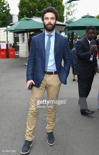 Aidan Turner attend Wimbledon London, England July 15, 2017.