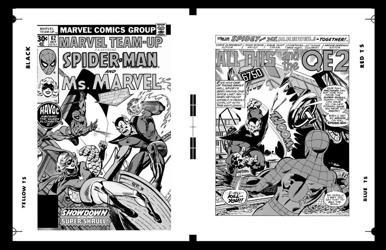 Gil Kane John Byrne Marvel Team Up #62 Cover And Pg 1 Large Production Art | eBay