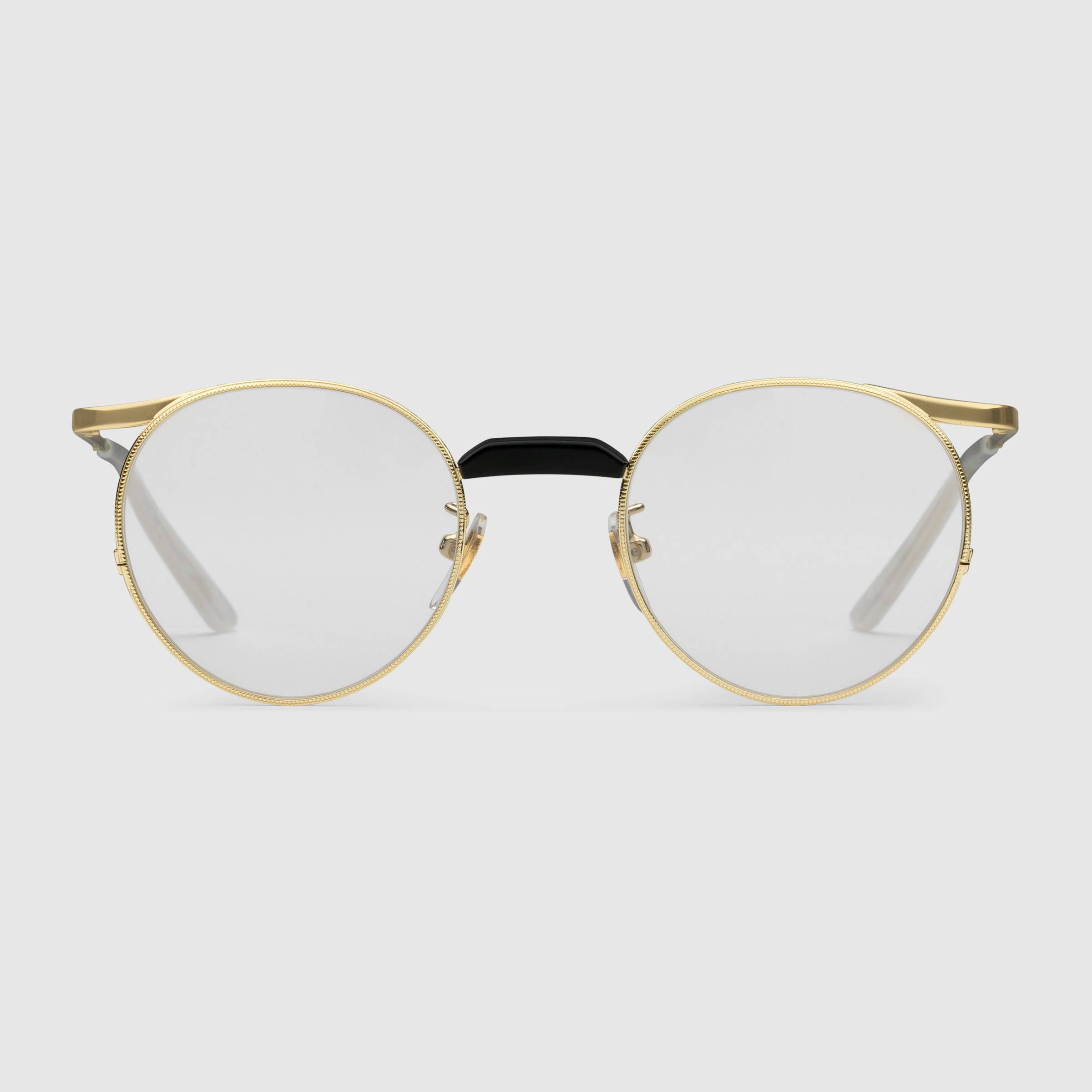 871c24f5d9f Round-frame metal glasses - Gucci Men s Round   Oval 494332I33308880 ...