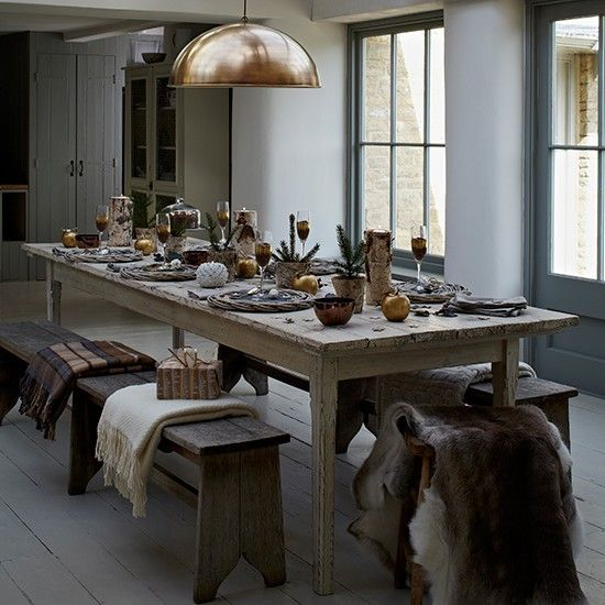 Country Christmas dining room ideas Room ideas, Room and Dining