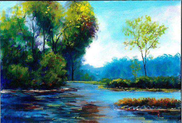 Plein Air Landscape Oil Painting By Andrew Semberecki