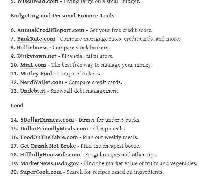 65 Websites To Help Save You Money Source Below Life Hacks