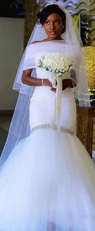 Exquisite satin u tulle sweetheart neckline mermaid wedding dress