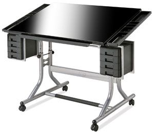 Alvin Craftmaster Ii Deluxe Glass Top Art And Drawing Table Drawing Table Glass Top Table Art Table