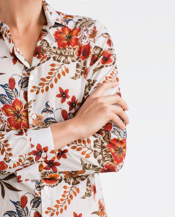 Zara man floral print shirt zara mens pinterest for Zara mens floral shirt