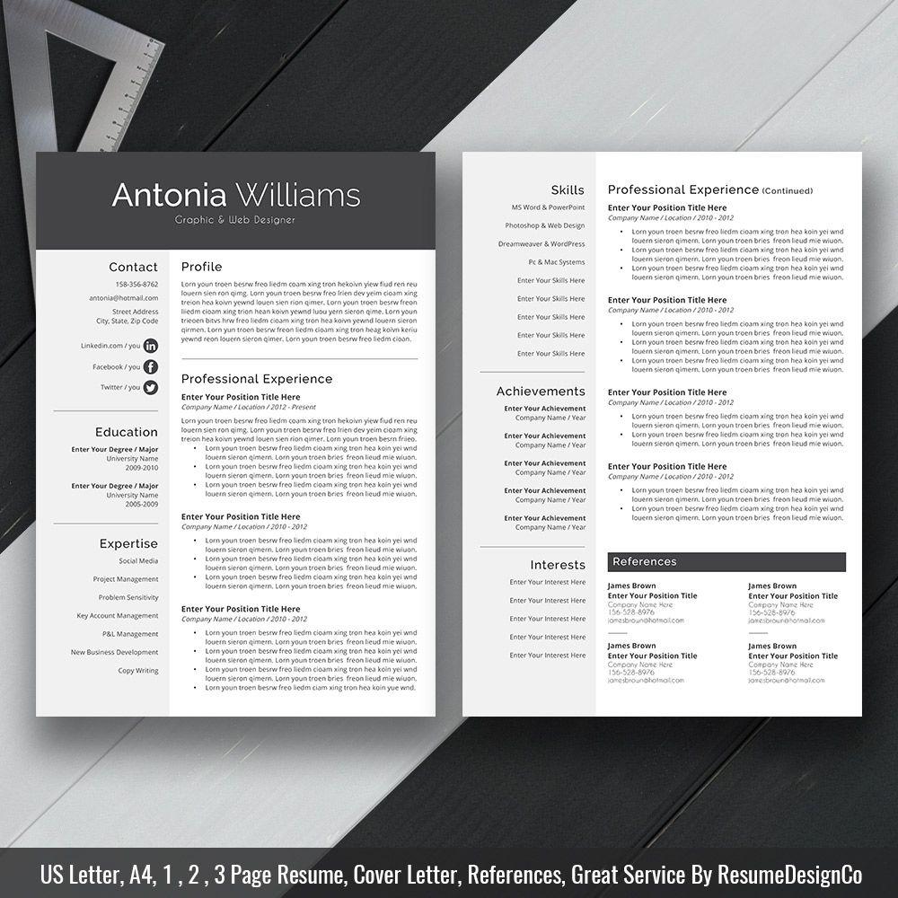 2019 simple resume template word  1