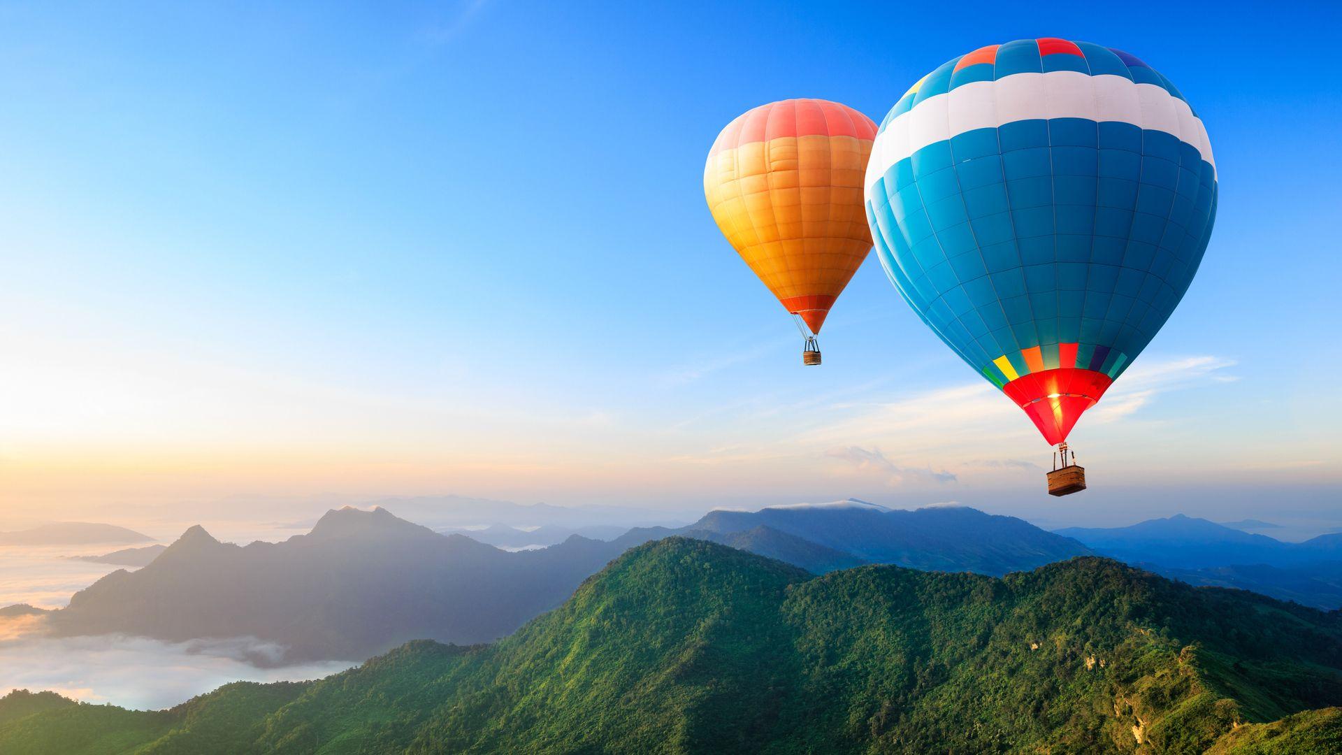 Nature and Balloons HD Wallpaper Hot air balloon rides