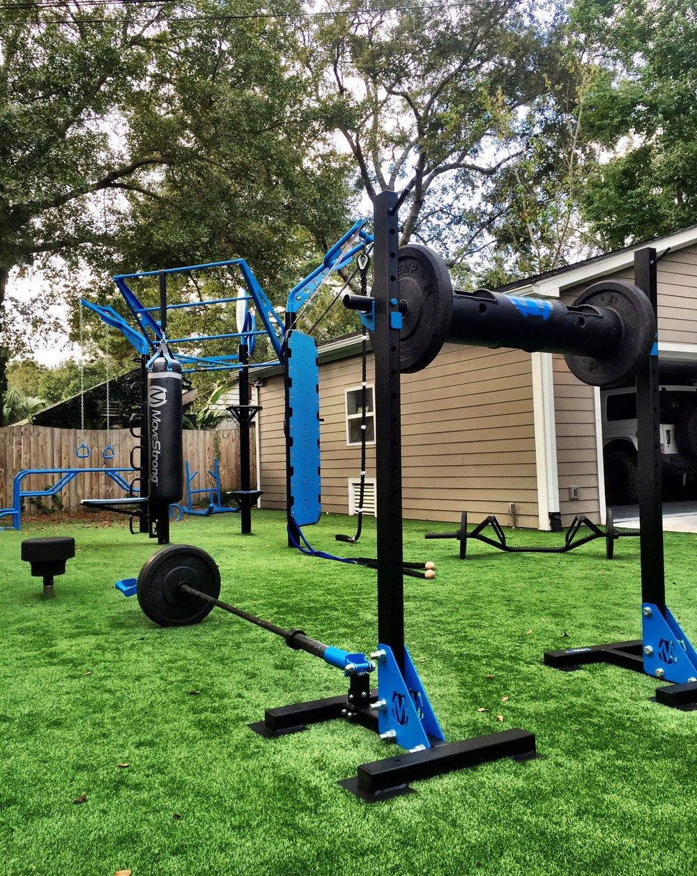 Outdoor gym movestrong post t rex fts with climber bar