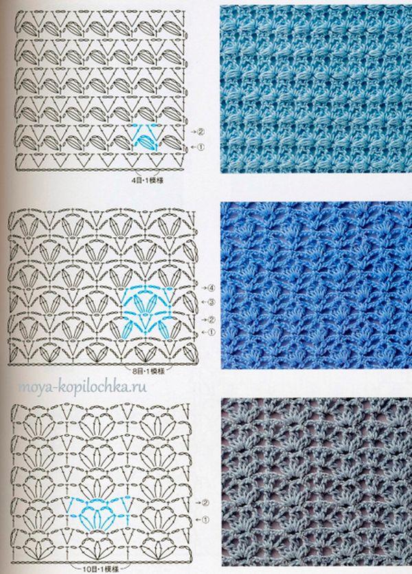Colección de patrones y motivos, los de punto | Teknik rajut ...
