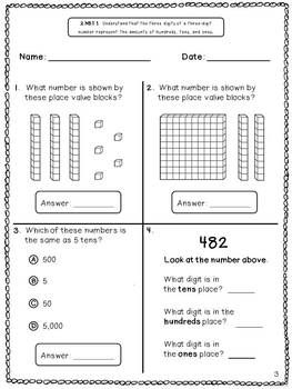 Common Core Math Assessments for 2nd Grade - 2.NBT.1 FREEBIE ...