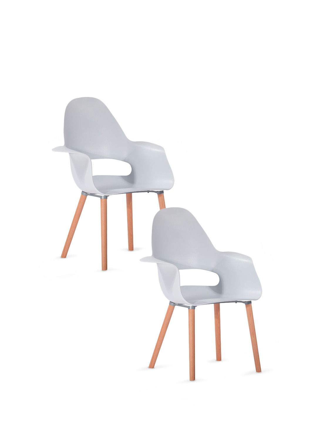 Awesome Winged Dining Side Chair   White   Set Of 2 By Dulce Modern Mid Century  Furniture On
