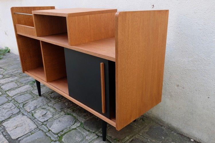 Meuble Hifi Bac Disquaire Amm Grand Modele Atelier Monsieur Madame Meubles Bois Handmade Paris Meuble Hifi Meuble Pour Platine Vinyle Mobilier De Salon