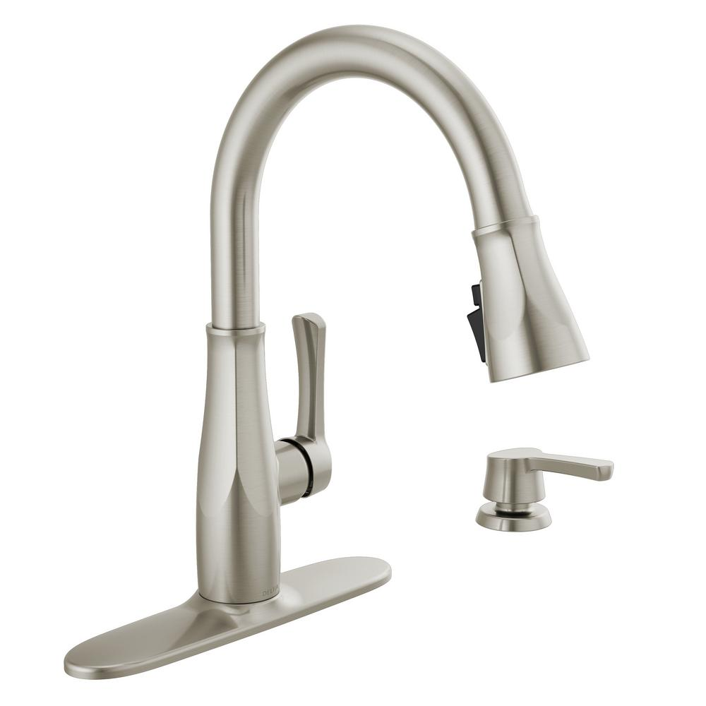 Delta Owendale Single Handle Pull Down Sprayer Kitchen Faucet With