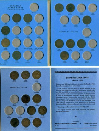 22 Canada Large Cents Dated 1859 1920 In Whitman Coin Folder In Coins Paper Money Coins Canada Large Cents Ebay Canadian Coins Ebay Coins
