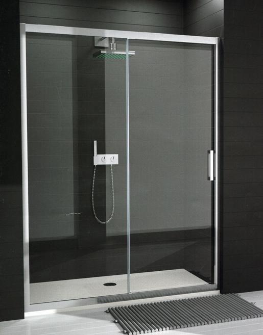 Mampara frontal ducha fabricaci n est ndar 1 hoja fija - Mampara bano barata ...
