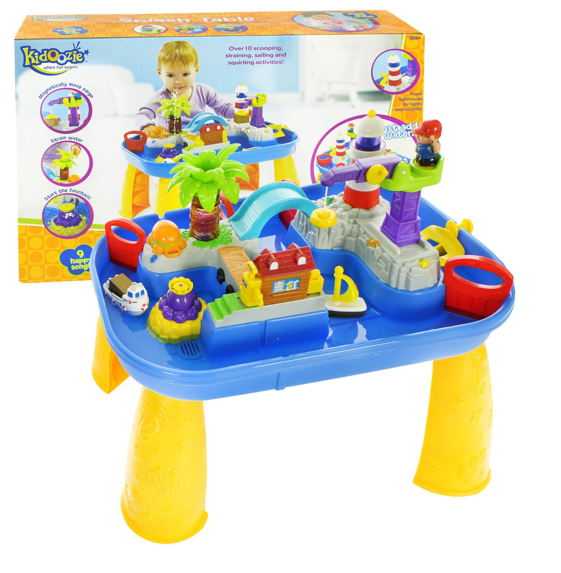 Amazon.com: Kidoozie Sights and Sounds Splash Table: Toys ...